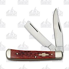 Rough Ryder Red Jigged Bone Razor Trapper