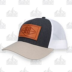 Rough Ryder Logo Cap Charcoal Khaki