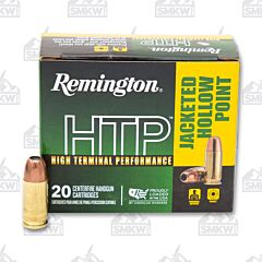 Remington HTP Ammo 9mm Luger +P 115 Grain JHP 20 Rounds