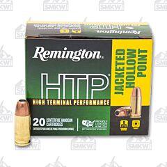 Remington HTP Ammo 9mm Luger +P 115 Grain JHP 20 Rounds