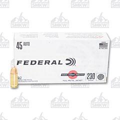 Federal Range Target Practice Ammo 45 Auto 230 Grain Full Metal Jacket 50 Rounds