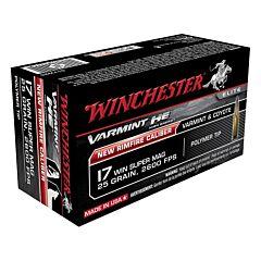 Winchester Varmint High Energy 17 Winchester Super Magnum 25 Grain Hornady V-Max 50 Rounds