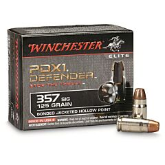 Winchester PDXI Defender 357 Sig 125 Grain Bonded Jacketed Hollow Point 20 Rounds