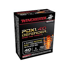 "Winchester PDXI Defender 410 Bore 3"" 4 Disk over 1/3 oz BB Shot 10 Rounds"
