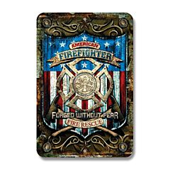 Signs 4 Fun American Firefighter Tin Sign