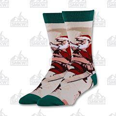 Oooh Yeah! Santa's Map Men's Crew Socks