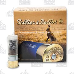"Sellier and Bellot 12 Gauge 2-3/4"" 00 Buckshot 9 Pellets 25 Rounds"