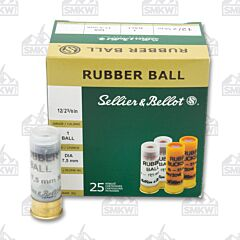 "Sellier and Bellot 12 Gauge 2-5/8"" 17.5mm Rubber Slug 25 Rounds"