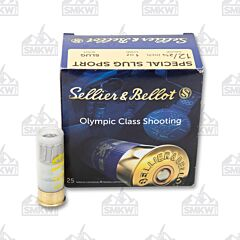 "Sellier and Bellot 12 Gauge 2-3/4"" 1oz Special Sport Slug 25 Rounds"