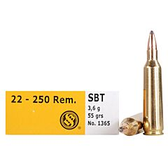 Magtech Sellier & Bellot 22-250 Remington 55 Grain SBT Sierra GameKing 20 Rounds