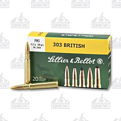 Sellier & Bellot 303 British 180 Grain Full Metal Jacket 20 Rounds