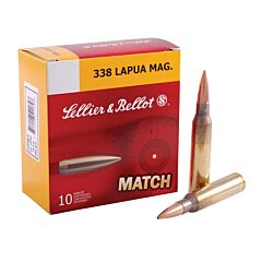 Sellier & Bellot 338 Lapua 250 Grain Jacketed Hollow Point 10 Rounds