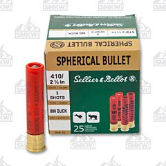 "Sellier & Bellot 410 Bore 2-1/2"" 000 Buckshot 3 Pellets 25 Rounds"