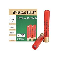 "Magtech Sellier & Bellot 410 Bore 3"" 00 Buckshot 5 Pellets 25 Rounds"