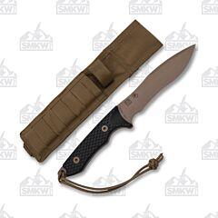 Spartan Blades Ronin Shinto Brown S35Vn Blade Black G-10 Handle