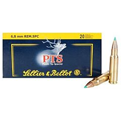 Sellier & Bellot 6.8mm Remington SPC  110 Grain Polymer Tip Spitzer 20 Rounds