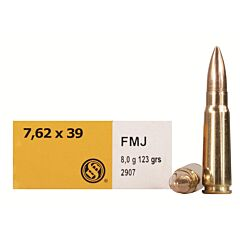 Sellier & Bellot 7.62x39 123 Grain Full Metal Jacket 20 Rounds