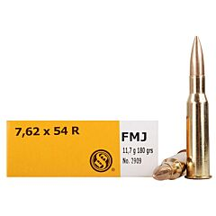 Sellier & Bellot 7.62x54R 180 Grain Full Metal Jacket 20 Rounds