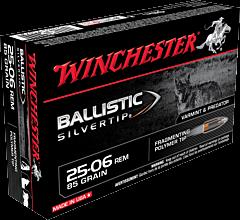 Winchester Supreme Ballistic Silvertip 25-06 Remington 85 Grain Polymer Tip 20 Rounds