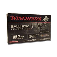 Winchester Ballistic Silvertip 280 Remington 140 Grain Rapid Controlled Expansion Polymer Tip 20 Rounds