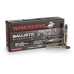 Winchester Ballistic Silvertip 30-30 Winchester 150 Grain Rapid Controlled Expansion Polymer Tip 20 Rounds