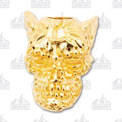 "Schmuckatelli Co ""Aquilo"" 18K Gold Plated Skull Bead"