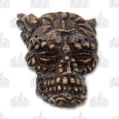 "Schmuckatelli Co ""Aquilo"" Rubbed Bronze Skull Bead"