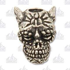 "Schmuckatelli Co. ""Aquilo"" Sugar Pewter Skull Bead"
