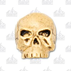 "Schmuckatelli Co. ""Classic"" Antique 18k Gold Skull Bead"