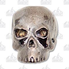 "Schmuckatelli Co. ""Classic"" Hematite Skull Bead"