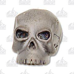 "Schmuckatelli Co ""Classic"" Hematite Matte Plated Skull Bead"