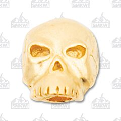 "Schmuckatelli Co. ""Classic"" Matte 18K Gold Skull Bead"
