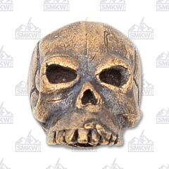 "Schmuckatelli Co. ""Classic"" Oil Rubbed Bronze Skull Bead"