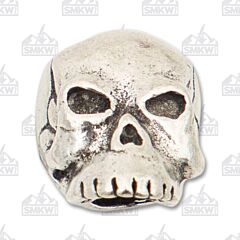"Schmuckatelli Co. ""Classic"" Pewter Skull Bead"