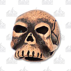 "Schmuckatelli Co. ""Classic"" Roman Copper Skull Bead"