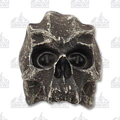 "The Schmuckatelli Co. ""Cyber"" Black Oxidized Skull 1/8 Bead"