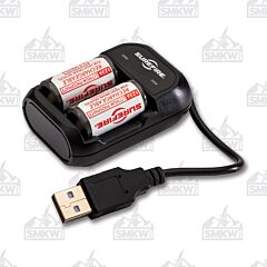 Surefire Rechargeable 123A Batteries and Charger Set