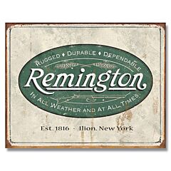 Remington Weathered Logo Tin Sign