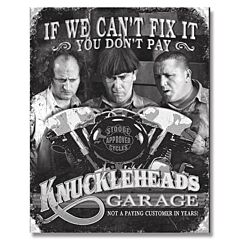 Three Stooges Knuckleheads Garage Tin Sign