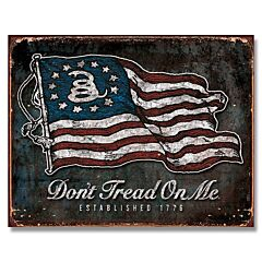 Don't Tread On Me Vintage Flag Tin Sign