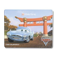 Disney Pixar Cars 2 Finn McMissle Tin Sign
