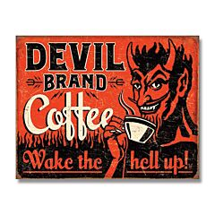 Devil Brand Coffee Tin Sign