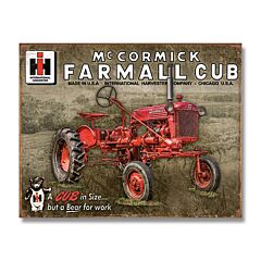 Farmall Cub Tin Sign