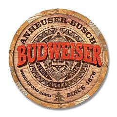 Budweiser Barrel End Tin Sign