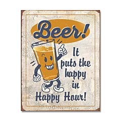 Happy Hour Beer Tin Sign Model SG2259