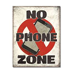 No Phone Zone Tin Sign Model SG2278