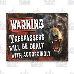 Warning Trespassers Tin Sign