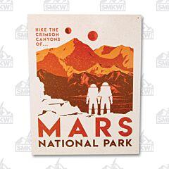 Mars National Park Tin Sign
