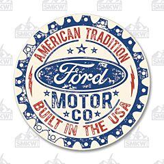 Ford Motor Co Circle Tin Sign