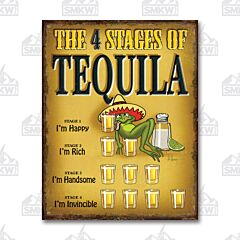 The Stages of Tequila Tin Sign